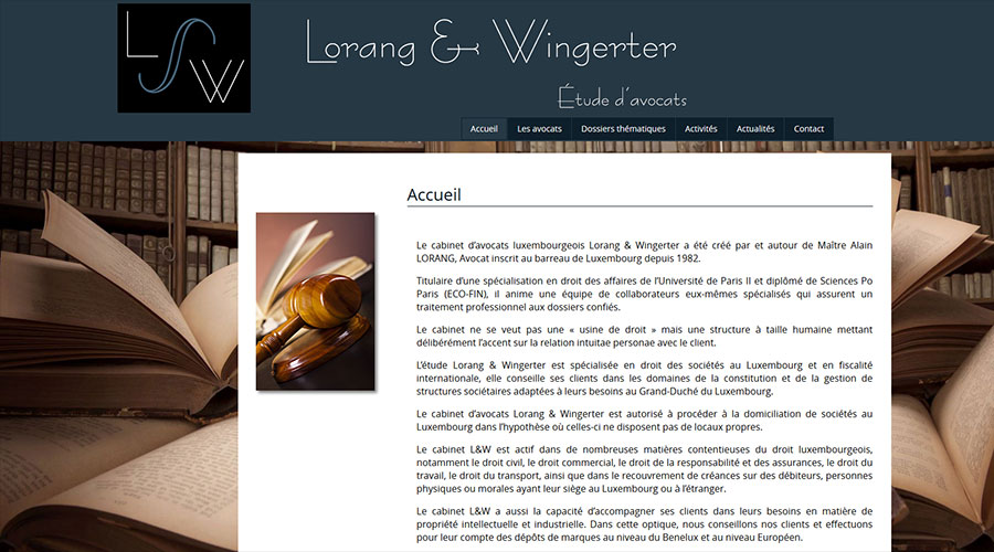 Alain Lorang Website